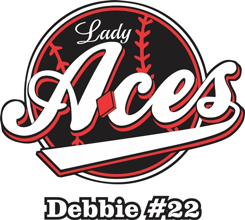 Lady Aces Softball Custom Car Window DecalsStickers Helmet - Car window clings custom