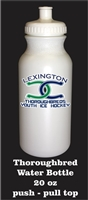 Lexington Thoroughbreds Youth Ice Hockey Water Bottle with team logo