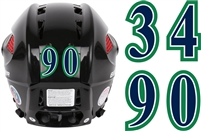 LEX Lexington Thoroughbreds Youth Ice Hockey Helmet Number Sheets