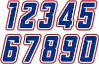 Lake Oswego Baseball  Club Custom Helmet Number Sheets