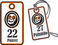Laughing Skulls Hockey  Custom Hockey Bag Tags