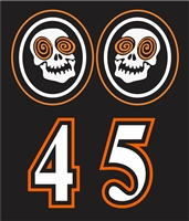 Laughing skulls Side Helmet decals | Individal Number