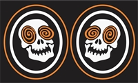 Laughing Skulls Hockey Custom Helmet Decals