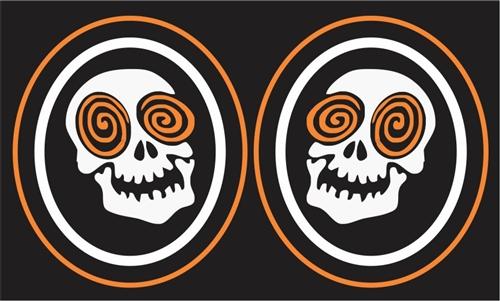 laughing skulls custom hockey helmet number decals puck tagsports