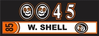 Laughing Skulls Custom Hockey Helmet Number Decal & Sticker
