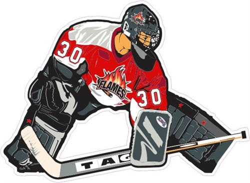 Manchester Flames Goalie Car Decal Amp Stickers Tagsports