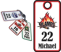 Manchester Flames Custom Hockey Bag Tags