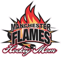 Manchester Flames Car Window Decal Hockey Mom