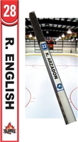 Custom Manchester Flames Hockey Stick TAG