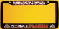 MRYHA | Manchester Flames Custom Hockey Metal License Plate Frames