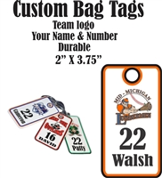 Mid Michigan Lumbermen Baseball Club Custom Baseball Bag Tags