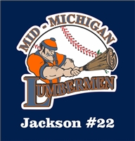 Mid Michigan Lumbermen Baseball Club Custom Baseball Decals | Stickers for your Car Window