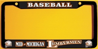 Mid Michigan Lumbermen Baseball Club Custom License Metal Plate Frame