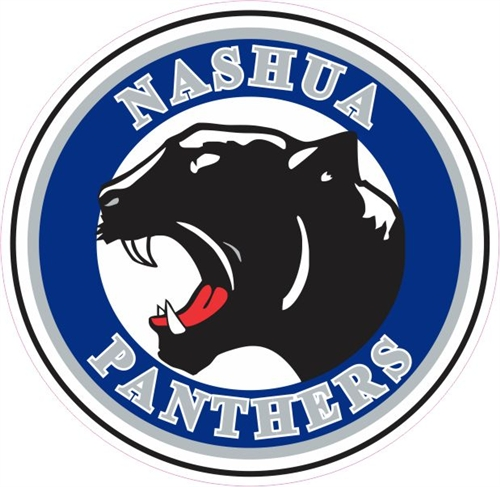 Custom Car Window Hockey Decals  Stickers NASHUA Panther Helmet - Custom car window sticker