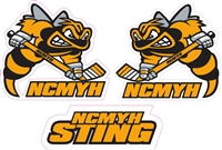 NCMYH Side Helmet decals