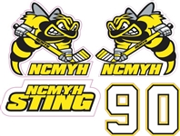 NCMYH Side Helmet decals + numbers