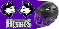New England Jr Huskies Hockey Club Hockey Helmet Decals