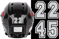 New England Huskies Hockey Club Helmet Numbers Decals