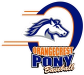 Orangecrest Pony Baseball Custom Car Window Decals | Stickers