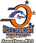 Orangecrest Pony Baseball Car Window Decal