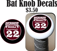 Custom Bat Knob Decals