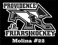 Providence Junior Friars Hockey Club Custom Car Window Decals1
