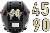 PVI Panthers Hockey Club Ice Hockey Helmet Number Sheets