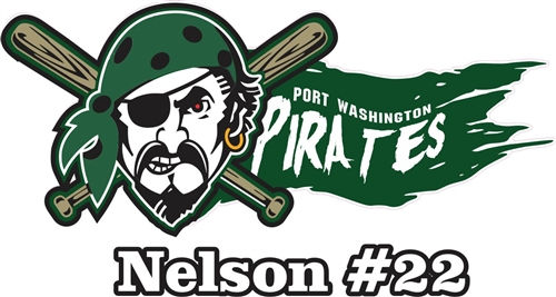 Port Washington Pirates Youth Baseball Custom Baseball Car Window - Custom car decals baseball