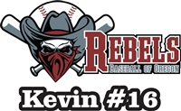 Rebels Baseball of Oregon Car Window Decal #1