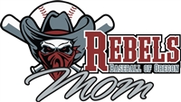 Rebels Baseball of Oregon Car Window Decal #2