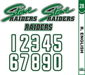 Stowe Raiders Hockey HD & Numbers & Stick Tag