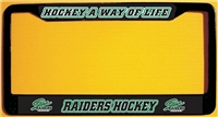 Stowe Raiders Custom Metal License Plate Frames