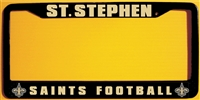 St Stephen Saints Football Custom License Plate Frame
