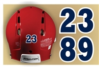 Southline Warriors Baseball Custom Helmet Numbers Individual