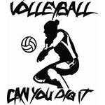 Customized Volleyball CAr Window Decal