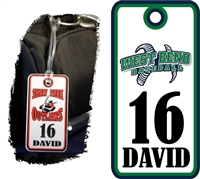 West Bend Bulldogs Baseball Bag Tags
