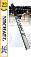 Wisconsin Jr Stars Ice Hockey Stick TAG