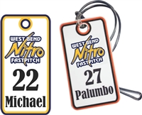 West Bend Nitro Fastpitch Baseball Bag Tags