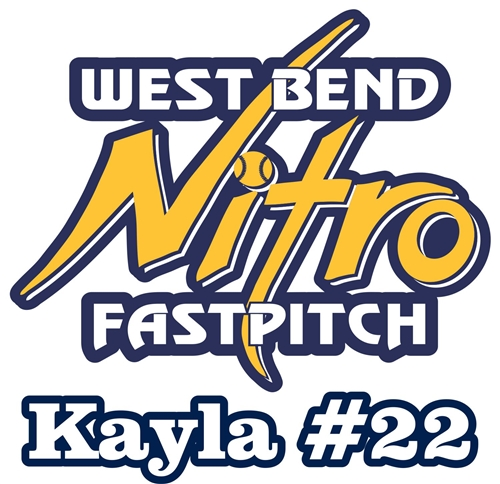 West Bend Nitro Custom Fastpitch Softball Car Window Decals - Custom decals and stickers