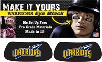West Bend Warriors Youth Baseball and Softball Custom Player Eye Black