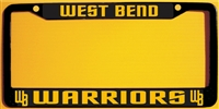 West Bend Warrior Baseball Custom License Metal Plate Frame