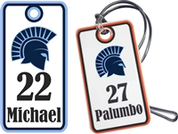 West Bend West Spartans Youth Baseball Custom Bag Tags