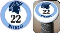 West Bend West Spartans Youth Baseball Custom Baseball Bat Knobs