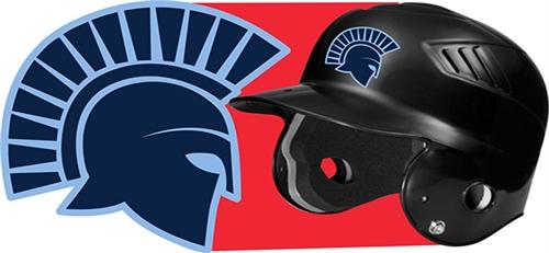 West Bend West Spartans Youth Baseball Custom Batting Helmet - Custom motorcycle helmet decals