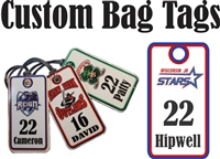 Wisconsin Jr Stars Ice Hockey Custom Hockey Bag Tags