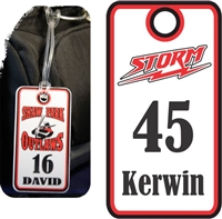 Yuma Storm Custom Football Bag Tags