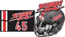 Yuma Storm Football Combo Helmet Decals | Stripes